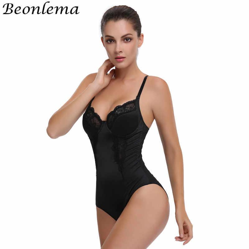 ea92460424 Beonlema Sexy Slimming Bodysuit Waist Trainer Body Shaper Women Tummy  Control Underwear Butt lifter Chest Binder