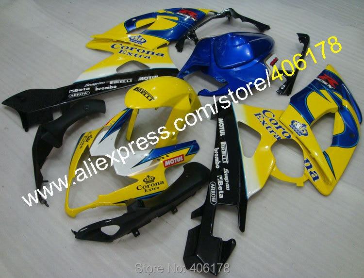 Hot Sales,For SUZUKI 2005 2006 GSXR1000 GSX-R1000 GSXR 1000 K5 05 06 Corona Extra Wholesale Fairing (Injection molding) custom road fairing kits for suzuki glossy flat black 2006 gsxr 1000 k5 2005 gsx r1000 06 05 motorcycle fairings kit