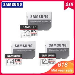 Image 1 - Carte mémoire SAMSUNG Micro SD carte PRO Endurance 100 mo/s 32 go 64 go 128 go SDXC SDHC classe 10 TF carte C10 UHS I carte Flash Trans