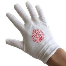 Men Women Fashion Cosplay Gloves Anime Fullmetal Alchemist  Edward Magic Glove Black Butler Cotton Full Finger Mitten Unisex