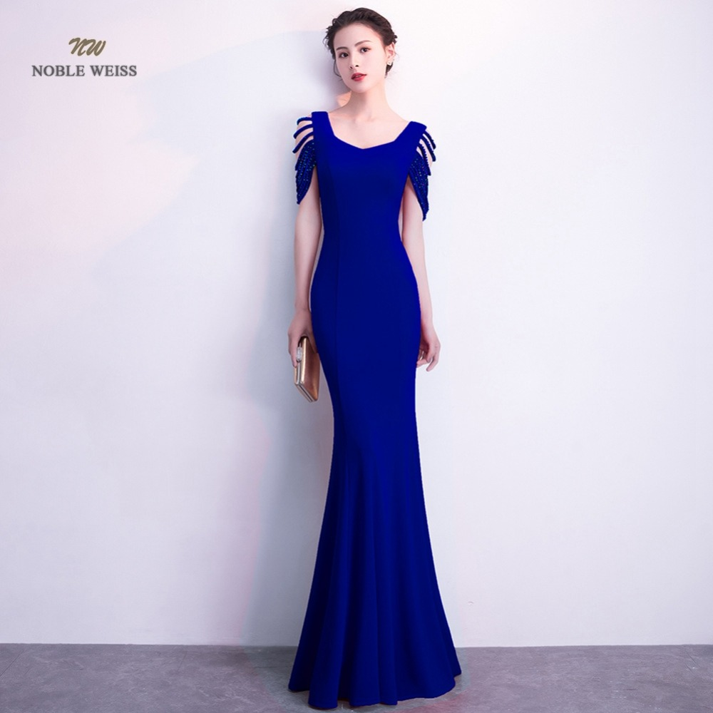 Elegant Mermaid Long   Evening     Dress   Simple Satin Zipper Back Sexy Party   Dresses   Prom Gown