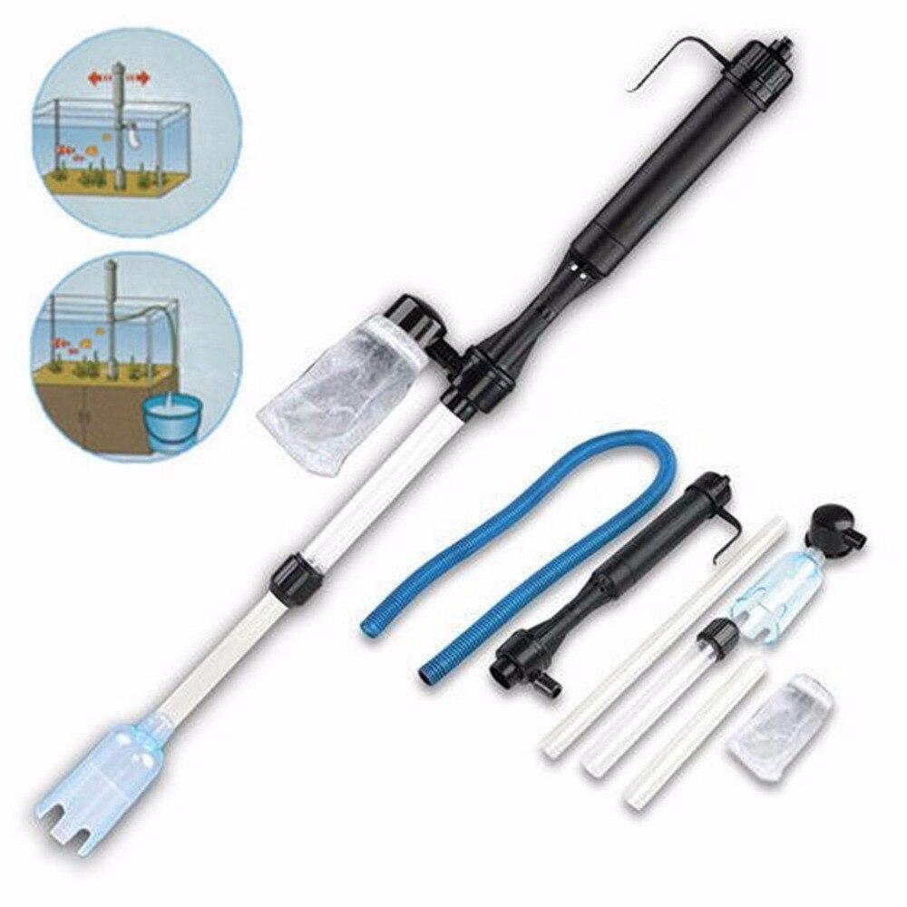 1pc aquarium battery syphon operated fish tank vacuum for Fish tank gravel vacuum
