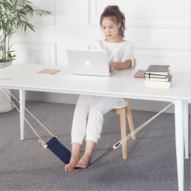 8 Color FUUT Mini Office Foot Hammock Leisure Home Furniture Desk Hamac Chair Feet Tool Outdoor Rest Table Stand Study Hamak(China)