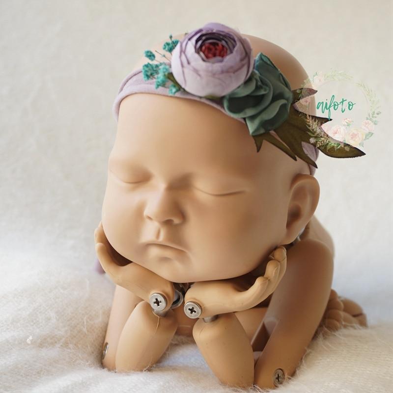 a1faa27e37df9 Baby floral headband, Newborn Headbands, Baby Hair bows band accessories  newborn photography props flokati newborn photography-in Hats & Caps from  ...