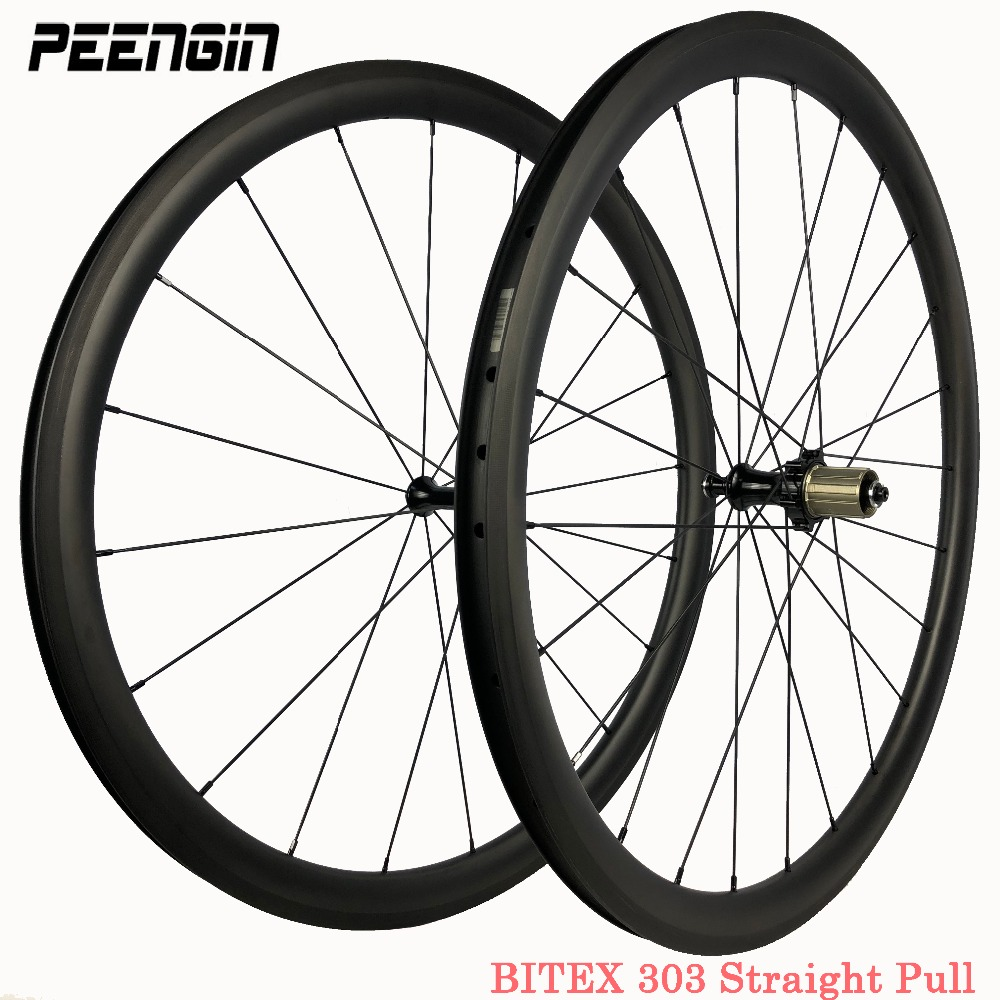 carbon wheels 38/50/60/88mm 23/25mm width Clincher/Tubular bitex R13/303/305 hub bike wheelset carbon bicycle wheels OEM decals