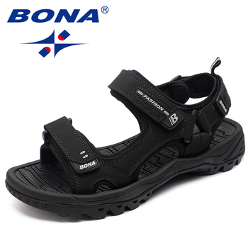 BONA New Classics Style Men Sandals Outdoor Walking Summer Shoes Anti-Slippery Beach Shoes Men Comfortable Soft Free Shipping 1