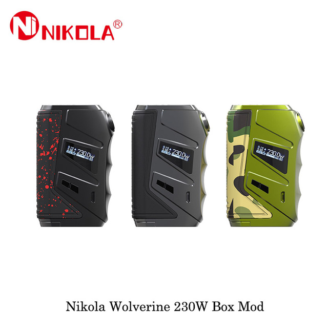 Electronic Cigarettes Nikola Wolverine 230W Box Mod Powered By Dual 18650 Battery Vape Vaporizer VS  Nikola Niagara Squonk 200W