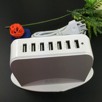New Wall Charger 7 Port USB HUB Splitter Tab Phone Smart Charger Power Supply Adapter Socket