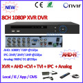 AHD-H CCTV DVR 8CH ONVIF ip camera recorder H.264 P2P AHD DVR for AHD-M 960H D1 camera Network Hybrid AHDVR 1080P cctv recorder