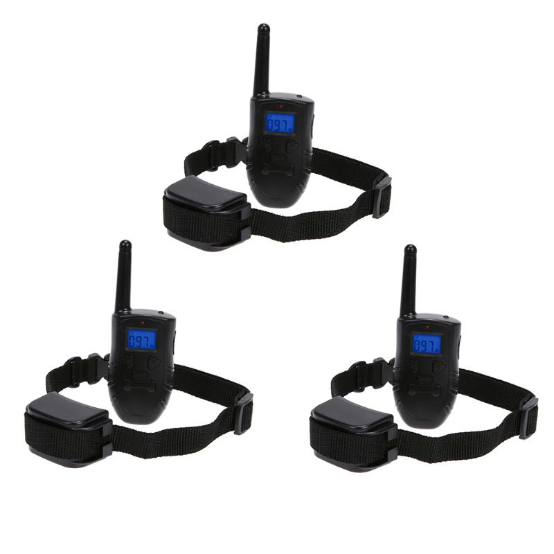 Dog Trainer Training Electric Collar Diving 10M Waterproof Charging 500M Remote Control with Blue Backlight LCD Display