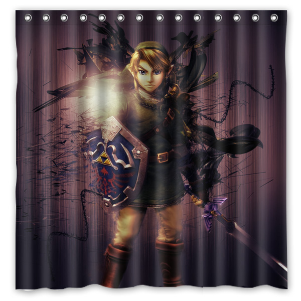 New Legend Of Zelda Printed Polyester Shower Curtain Waterproof Home Bathroom Curtains With 12 Hooks 180x180CM In From Garden On