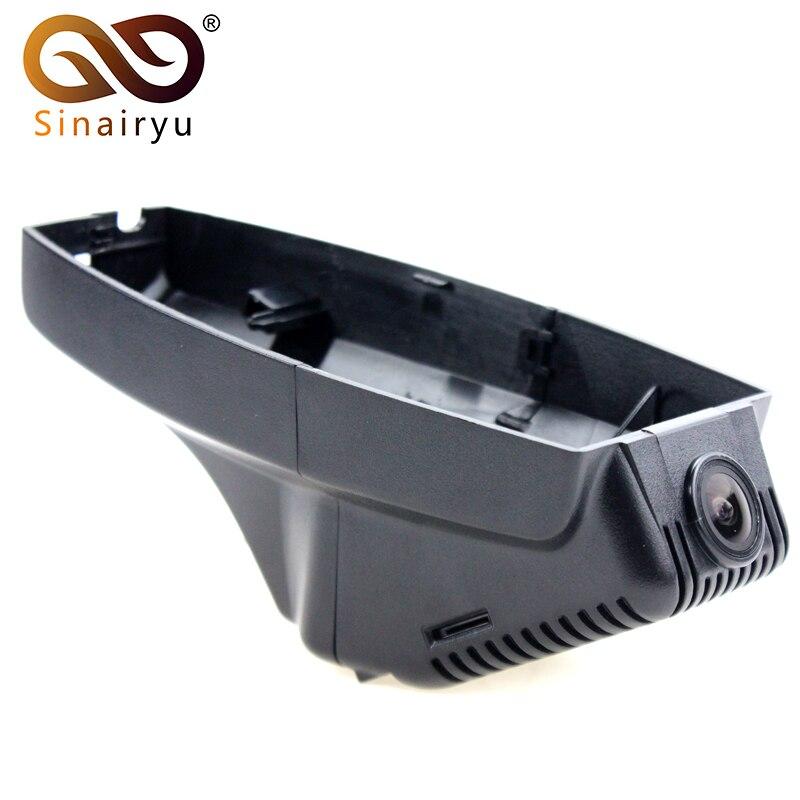 Sinairyu WiFi DVR mini caméra de tableau de bord pour BMW X1 X3 X6 par Type caché voiture double caméra Full HD 1080 P