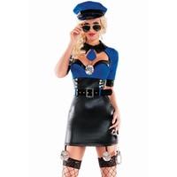 Bu ücret almak tutuklama cop altında siyah faux deri iç çamaşırı kostümleri ve cop kostümler yetişkin cadılar bayramı polis kıyafet l15271