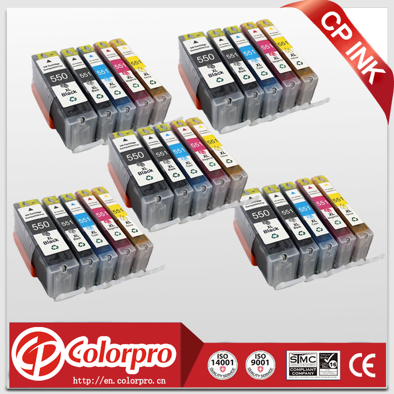 25PK 5 PBK BK C M Y Compatible ink PGI550 CLI551 for canon PIXMA IP7250 MG5450