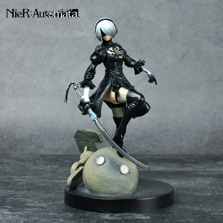 PS4 Game anime figure NieR Automata YoRHa No. 2 Type B 2B Cartoon Toy Action Figure Model Doll Gift 20cm anime life no game no life shiro game of life painted second generation game of life 1 7 scale pvc action figure model