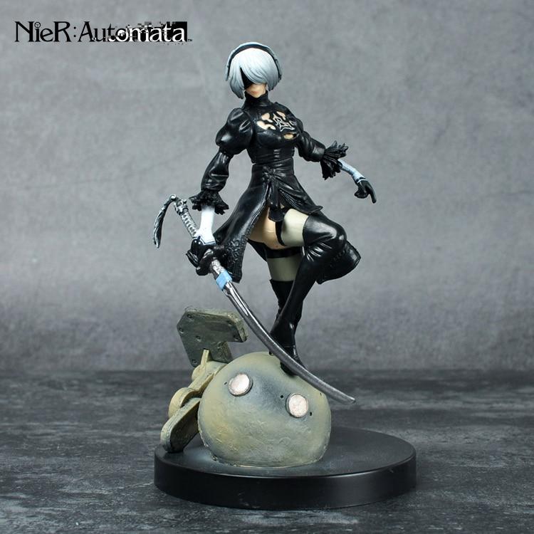 PS4 Game anime figure NieR Automata YoRHa No. 2 Type B 2B Cartoon Toy Action Figure Model Doll Gift