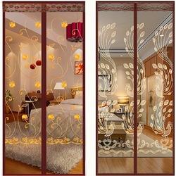 Anti bug/inseto/mosca mosquito net porta cortina verão tela magnética malha da porta net com etiquetas mágicas livres mosquito puerta
