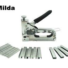 Milda 3-way ручной сверхмощный ручной гвоздь пистолет мебельный степлер для обрамления с 1000 шт скоб бесплатно Деревообрабатывающие инструменты