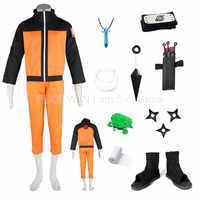 Heißer Naruto Uzumaki Naruto Erste Generation Cosplay Kostüm Halloween Kostüm Full Set