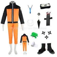 Hot Naruto Uzumaki First Generation Cosplay Costume Halloween Full Set