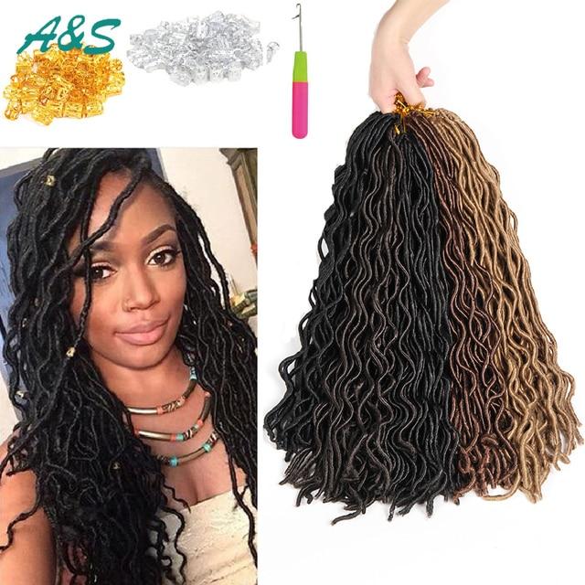 Stylish Curly Faux Locs Crochet Hair Crochet Braids Hair Extension