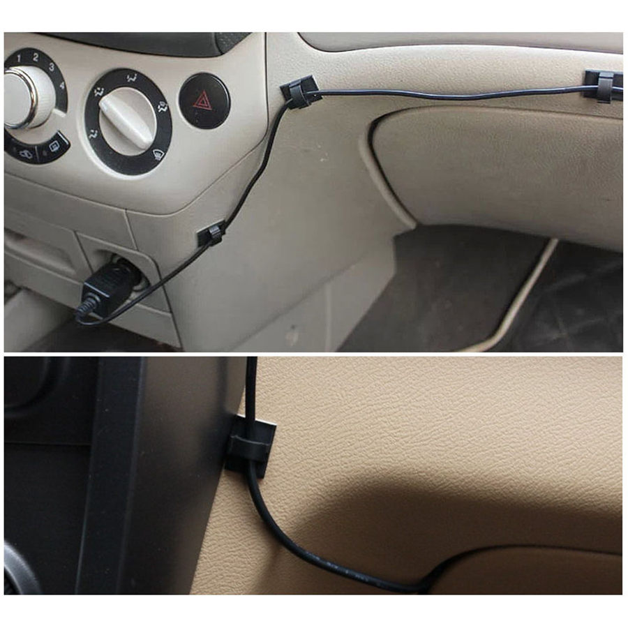 50pcs 20pcs /lot Multifunctional Tie Fixer Adhesive Car Cable Clip Cable Winder Drop Wire Holder Organizer Desk Wall Cord Clam