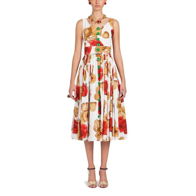 575a155d8 Mujeres diseñador Runway vestido Verano otoño Floral Rosa forma de corazón  galletas botones largo bohemio Vestidos Boho Vestidos Verano