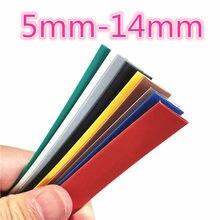 1 medidor 2:1 9 cores 5mm 6mm 7mm 8mm 9mm 10mm 11mm 12mm 13mm 14mm heatshrink tubo fio dropshipping