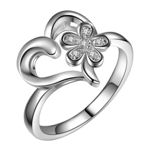 beautiful charms  love heart flower Wholesale 925 jewelry silver plated ring size 6 7 8 9 ,fashion jewelry Ring for Women,