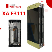 Original LCD For SONY Xperia XA Display F3111 F3112 F3115 F3116 Touch Screen Digitizer Assembly Replacement Screen with Frame replacement parts for sony xperia xa lcd display with touch screen digitizer assembly f3111 f3113 f3115 one piece free shipping
