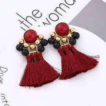 2019 New Exaggerated Large Multi-layer Tassel Earrings Boho Retro Pendant Ladies Party Jewelry