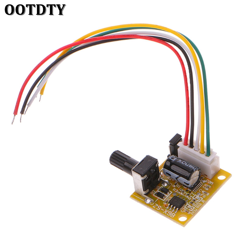 OOTDTY DC 5V-12V 2A 15W Brushless Motor Speed Controller No Hall BLDC Driver Board