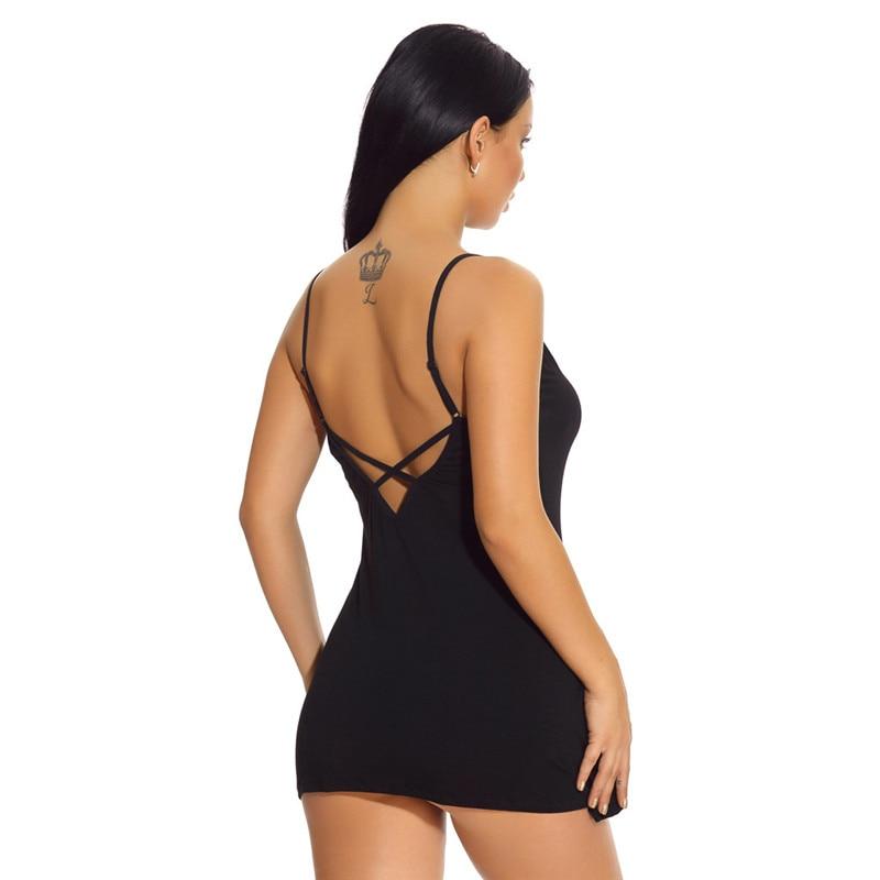 Womens Sexy Mini Nightdress Women\`S Summer Pajamas Backless Sling Sleeping T-Shirt Nightgown Nightwear Pyjama Femme 40Jun2415