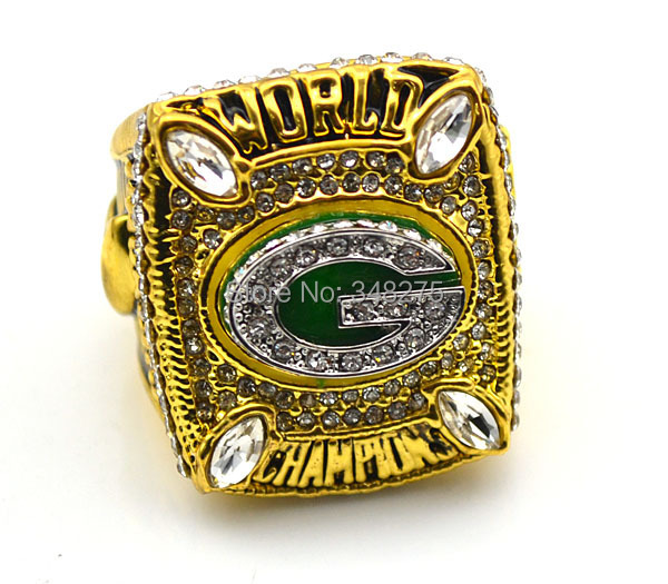 replica 18K gold plated green bay packers super bowl championship ring - artware Jewellery Company store