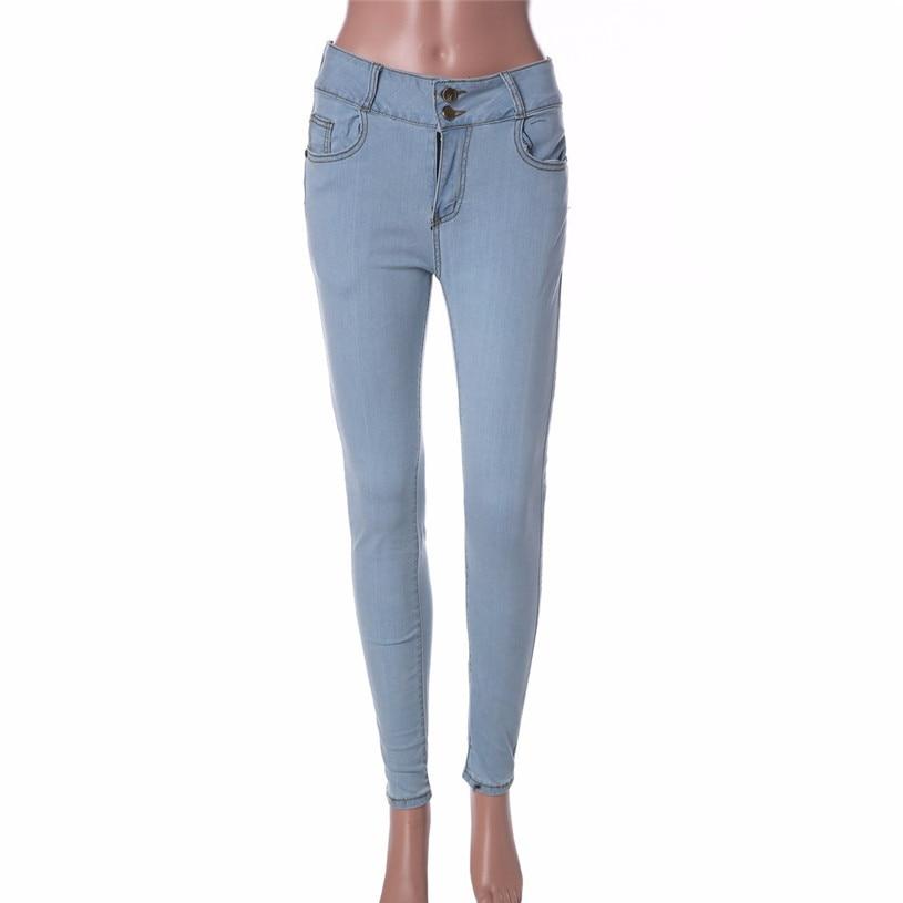 New Women's Jeans Leggings High Elastic Bleach Denim Pencil Pants Black Casual Skinny Jeans Women Jean Jeggings 30