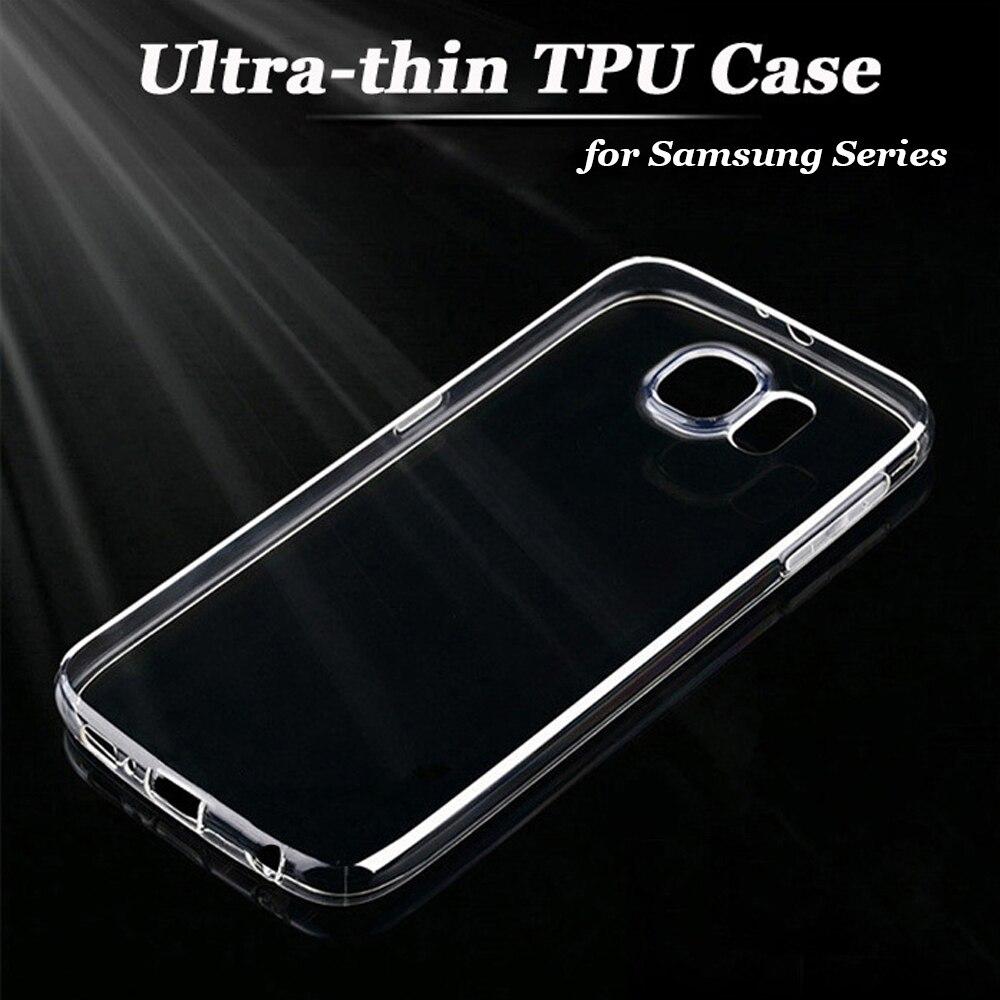 Tpu claro coque celular para samsung galaxy s6 s7 edge plus a5 j5 j7 A7 A3 2016 S3 S4 S5 Nota 5 3 4 Caso Abrange Caso A8 Fundas