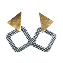 Hot Sale Brincos Metal Glossy Party Earring Geometric Drop Triangle Earrings for Women Fashion Accessories Jewelry