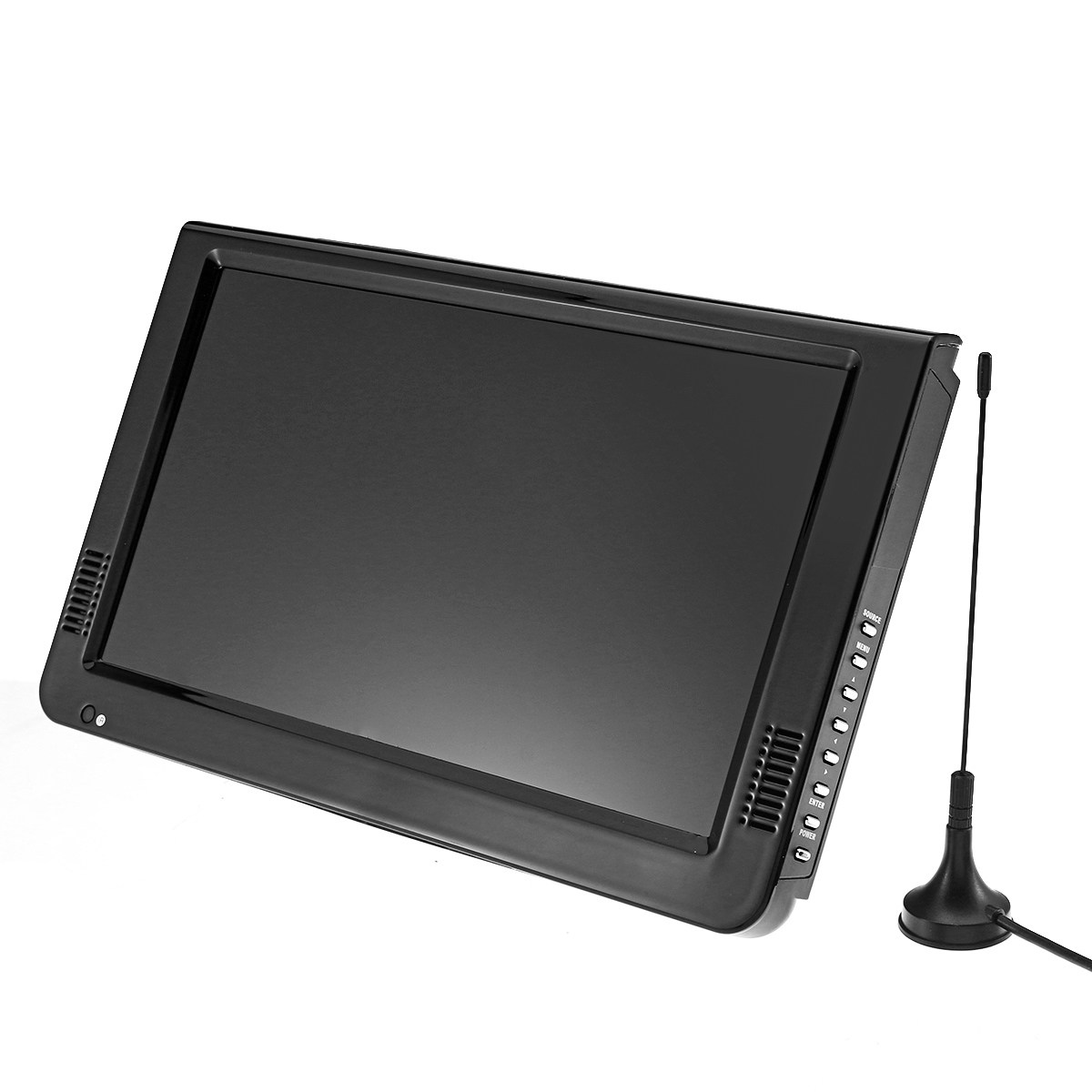 KROAK 10.2'' 12V Portable DVB-T/DVB-T2 TFT LED HD TV Television Digital Analog AC/DC 7 inch portable led tv television dvb t mpeg4 pvr black