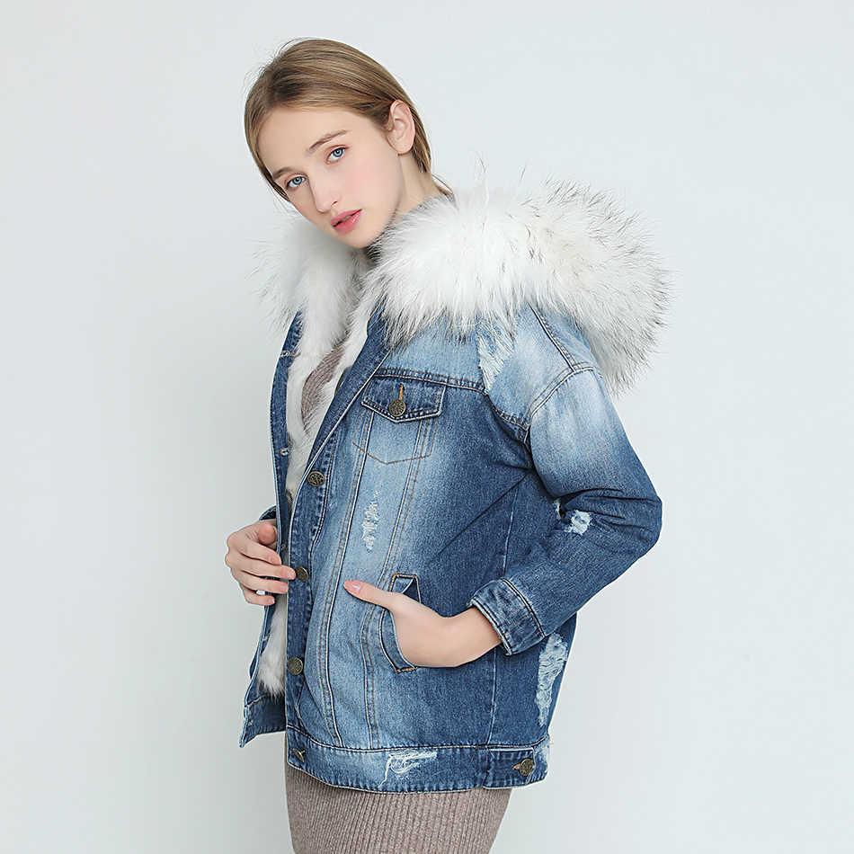 2018 новая осенне-зимняя куртка, пальто, женская джинсовая куртка с  дырками, настоящий 6dbde88692d
