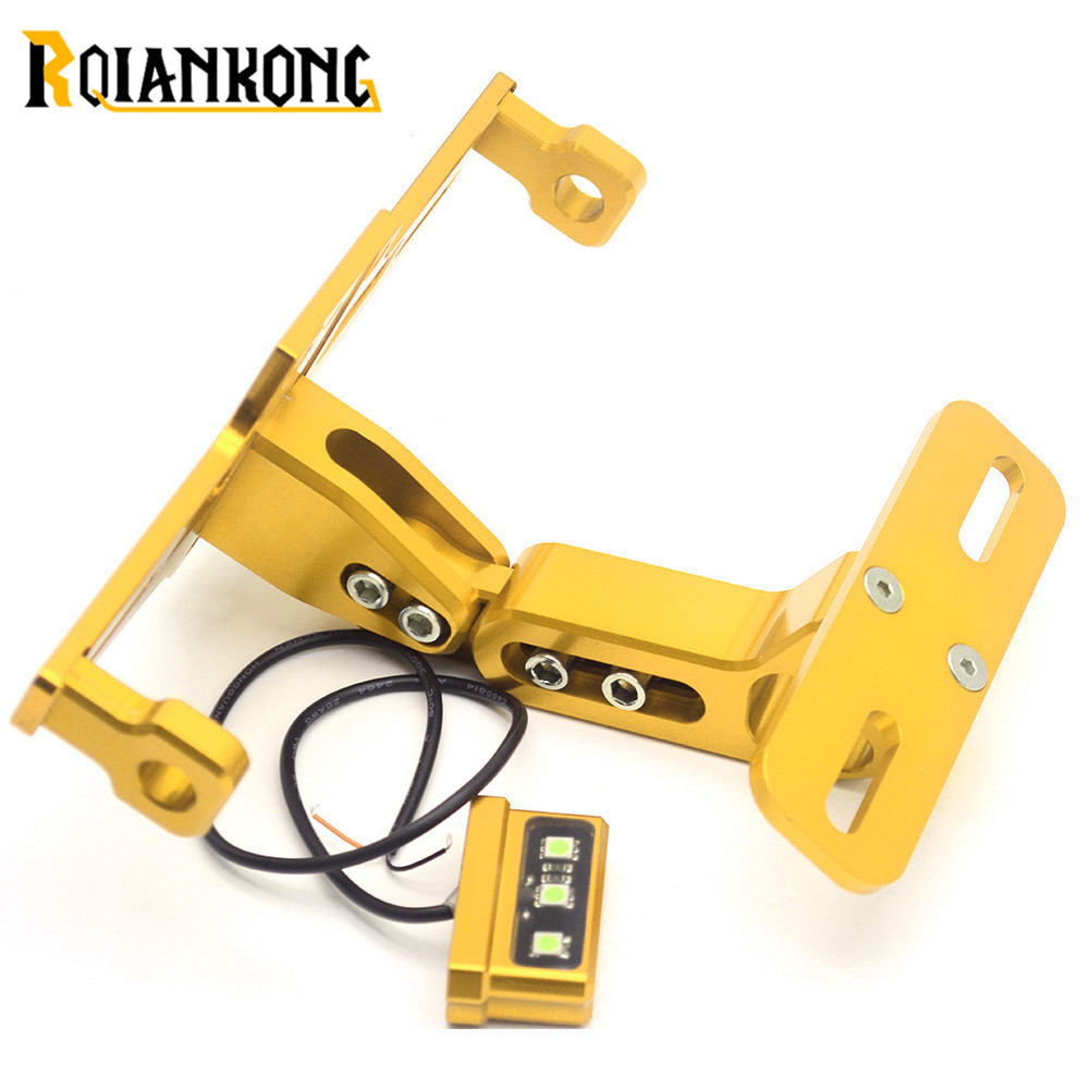 Universal CNC Motor Adjustable Aluminum License Number Plate Frame Holder Bracket For Honda CBR250RR CBR600RR CBR900RR