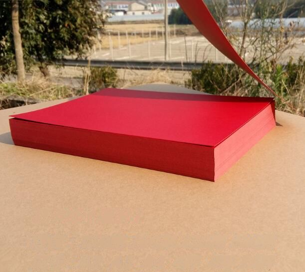 A4 Red Color Thick Papers Cardstock For Paper Craft Card Making 230gsm 3 To 2o Sheets
