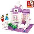 Brinquedos educativos para crianças Sluban Blocos de Construção casa doce para a menina auto-travamento tijolos Compatíveis com Lego
