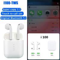 I100 TWS Air Smart Sensor Pop up Original 1:1 Bluetooth 5.0 Wireless Earphone Separate Use Bass Headset PK I10 I20 I30 I60
