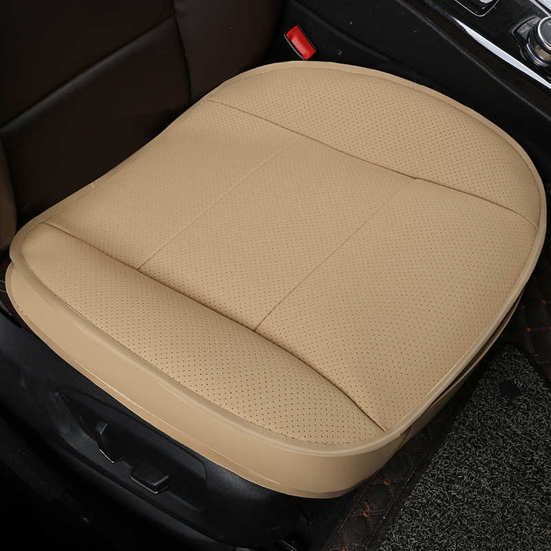KKYSYELVA 1pcs Automobiles Interior Accessories Summer Driver Seat Cushion Car Chair Pad Universal Car seat covers