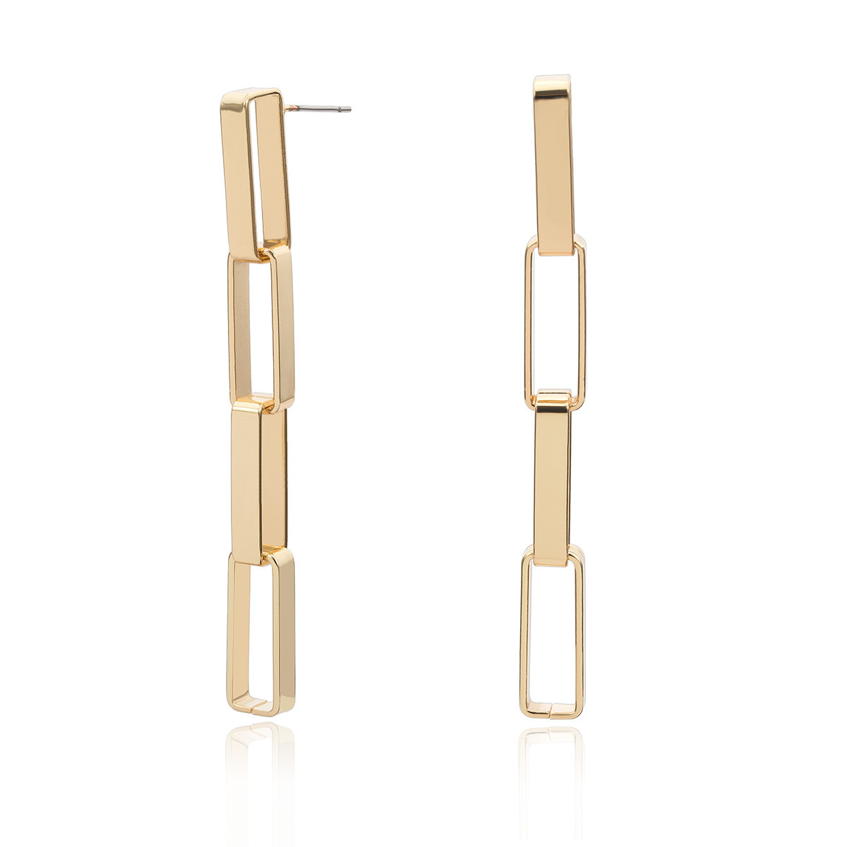 New Long Earrings for Women Fashion 2019 Korean Earrings Hanging Punk Gold Silver Chain Drop Earrings Female Earings Jewelry in Drop Earrings from Jewelry Accessories