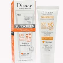 24 pces creme protetor solar facial beleza cuidados com a pele spf 90 óleo livre anti oxidante uva/uvb 40g britening protetor solar base maquiagem