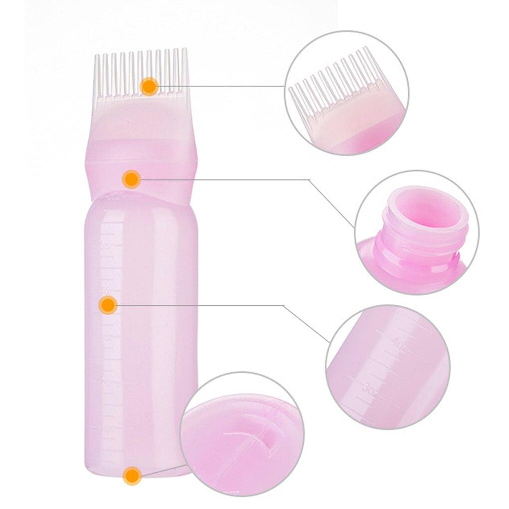 Kemei120ML Hair Dyeing Treatment Oil Cream Shampoo Bottle Oil Coloring Dispensing Applicator Brush Tip Tool