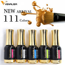12ml Gel Vernis 2019 Nail Art hot koop Kleuren VENALISA losweken Biologische Geurloos Emailen LED UV Nail Gel kleur Polish(China)
