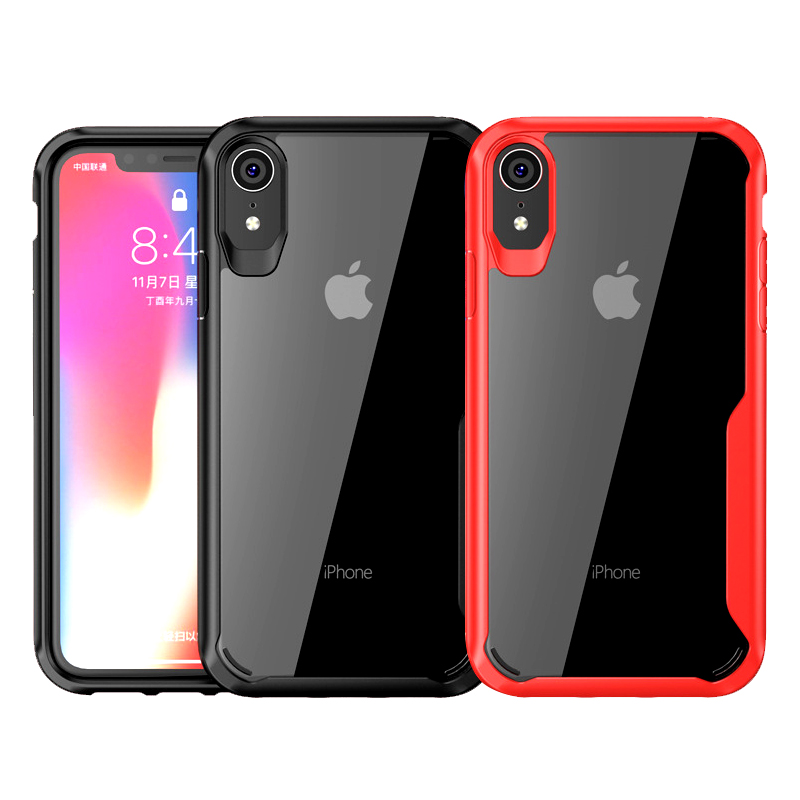 Case For iPhone XS Max XR X 8 7 6s Plus Bumper Transparent Shockproof Anti-knock TPU Cover Soft Protective Phone Bag