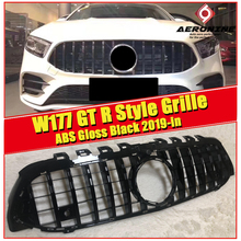 W177 A Class A63 Look GTS grille grill ABS glossy Black Sports With Camera A160 A180 A200 A250 Front grills Without Sign 2019+